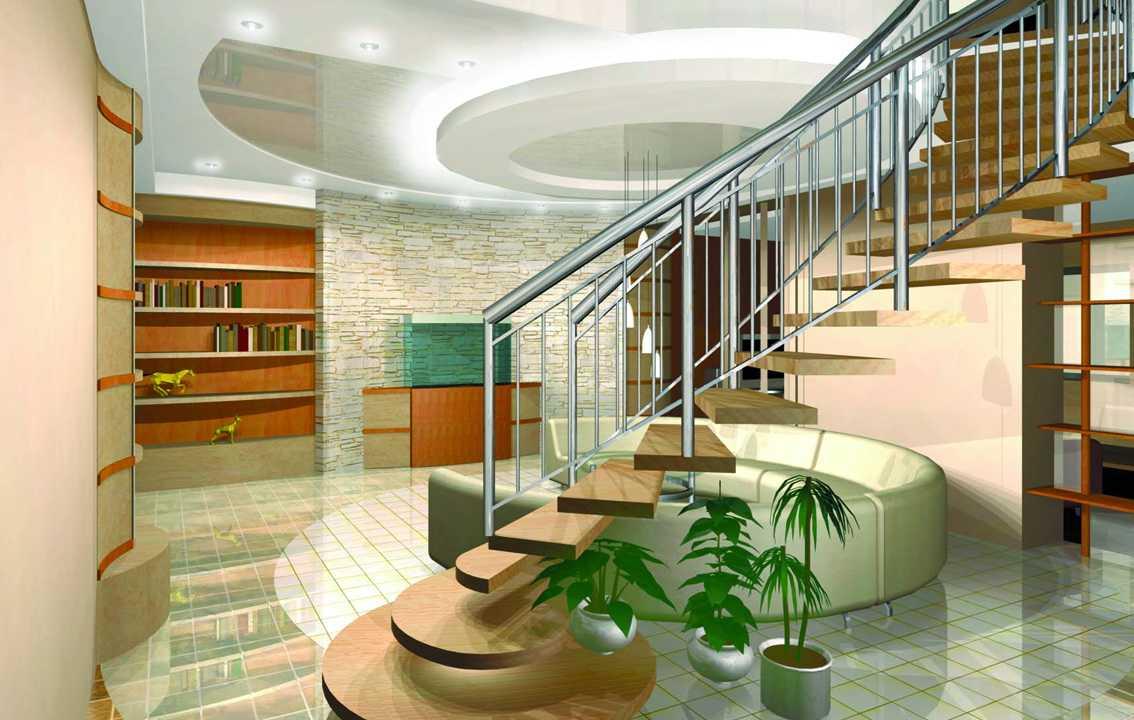 Организованный дизайн интерьера дома